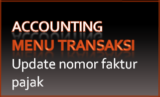 101 ransaksi-Import data-Update nomor faktur pajak
