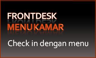 Tombol 06: Check in dengan menu