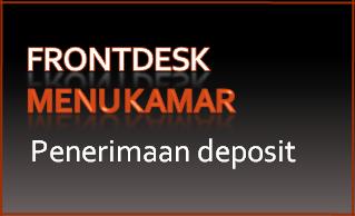 Tombol 11: Penerimaan deposit
