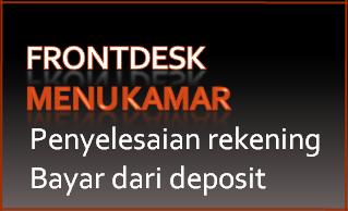 Tombol 14I: Pembayaran diambil dari deposit tamu
